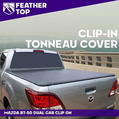 Mazda Bt50 Dual Cab Ute 2012 New Clip On Tonneau Tarp Cover (No Drilling)