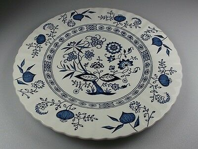 "MEAKIN BLUE NORDIC DINNER PLATE 9 7/8"" and dessert plate  6 7/8"""
