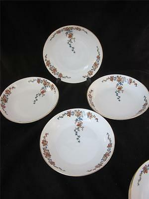 4 ROB240 by ROYAL BAYREUTH RANGE/YELLOW & BLUE FLOWERS 4 SALAD PLATES