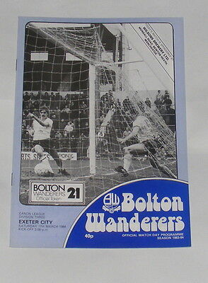 Bolton Wanderers -v- Exeter City 1983-1984
