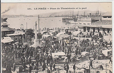 GRECE - GREECE - LE PIREE - place de themistocle et le port