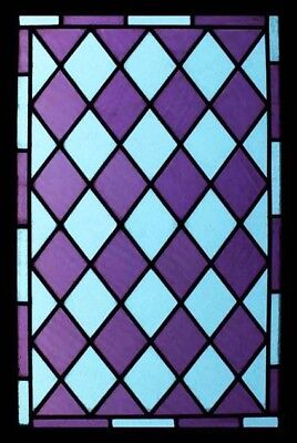 Stunning Victorian Lavender Antique English Stained Glass Window