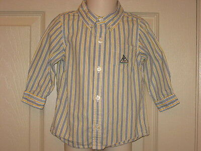 69ced4f97 Infant Boys Baby Gap Button Down Striped Shirt Sailboat Boat 12 18 Months