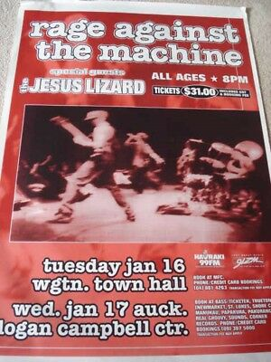 Rage Against The Machine 1996 New Zealand Concert Tour Poster