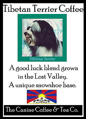 Tibetan Terrier    Tea  ( Black and White )  perfect   flavor in Collectible tin