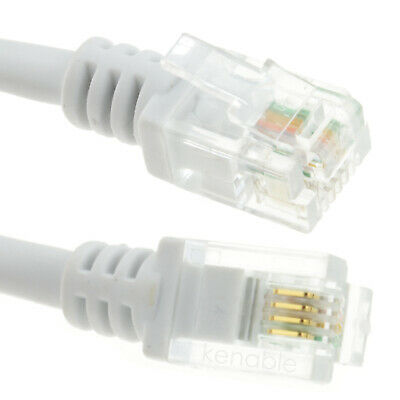 3m ADSL2+ High Speed Broadband Modem Cable RJ11 WHITE
