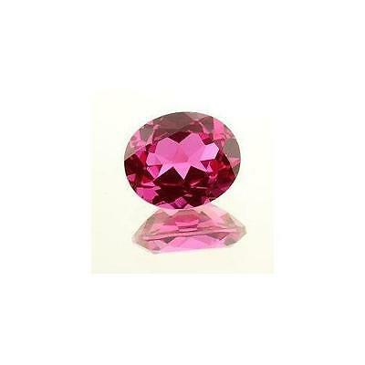 (6x4mm - 18x13mm) AAA Rated Lab Created Bright Pink Sapphire Oval