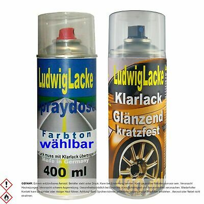 2 Spray im Set 1 Autolack 1 Klarlack 400ml Skoda 9102 Diamantsilber Metallic