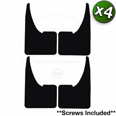 Car Rubber Black MUDFLAPS Mud Flaps (SET of 4) Suitable for All Makes and Models