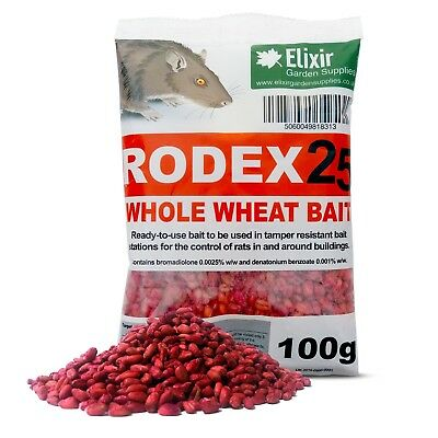 Rodex Whole Wheat Grain Bait | 100g Sachets | 1 - 140 | Mouse, Rat Poison Killer