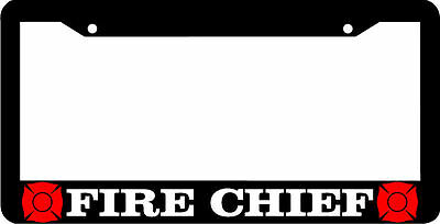 Caps FIRE CHIEF FIREFIGHTER FIRE MAN supreme chrome metal license plate frame