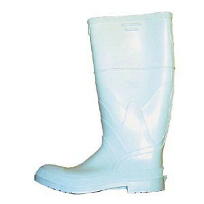 White  Rubberized PVC Safety Boots -- Size 11