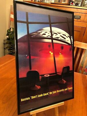 """1 BIG 11X17 FRAMED BOSTON """"DON'T LOOK BACK"""" LP ALBUM CD PROMO AD - choose from 3"""