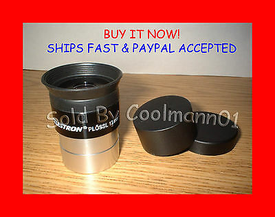 "NEW! CELESTRON 13mm PLOSSL Multi-Coated FITS ALL 1.25"" Telescope Eyepiece Lens"