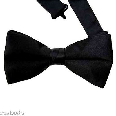 New Mens Pure Plain Bowtie Polyester Pre Tied Wedding Bow Tie FREE POSTAGE UK