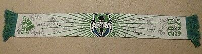 2012 SEATTLE SOUNDERS FC TEAM SIGNED ADIDAS SOCCER SCARF 31 AUTO's MONTERO + MLS