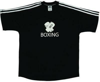 Adidas Mens Cotton Boxing Gloves T-Shirt Top Black, Small 36 - 38 Chest