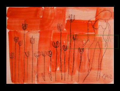 Flowers of the Earth = Original ART = Charcoal DRAWING = Cathy Peterson = 2002
