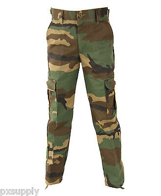 Kids Bdu Pants Woodland Camo Propper F5701 Various Sizes Available