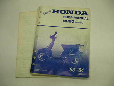 honda nh80 aero 80 full service repair manual 1985