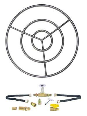 "6"" 12"" 18"" 24"" 30"" 36"" 48"" Stainless Steel Gas Fire Pit Burner Ring Kit for LP"