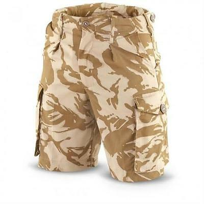"NEW -  British Army Issue Desert Camo SHORTS - Waist Sizes 30"" and 32"""