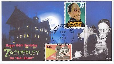 Jvc Cachets - Zacherley's 94Th Birthday Event Cover #1 Cool Ghoul Horror Topical