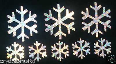 snow-flake silver HOLO IRON-ON a DIY Craft Card Making Scrapbook Embellishment