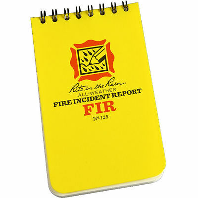 "Rite in the Rain All-Weather Fire Incident Report Notebook #125  3"" x 5"""