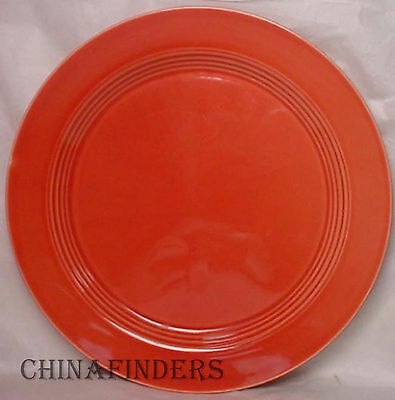 HOMER LAUGHLIN china HARLEQUIN pattern CORAL 1979 issue CHOP PLATE Round Platter