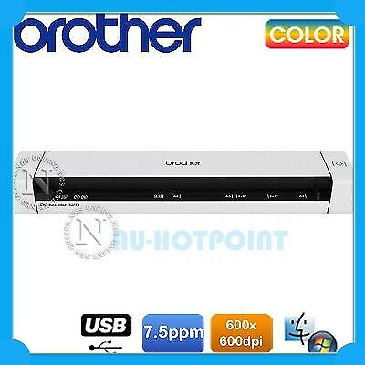 Brother DS-600 Porable Mobile Color A4 USB Document Scanner+ADF 5PPM/600DPI