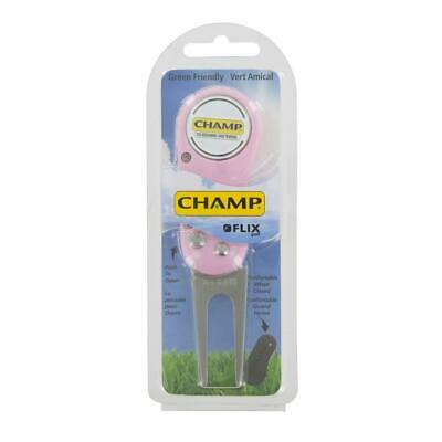 Champ Golf Flix Pitchfork and Magnetic Ball Marker (Pink)