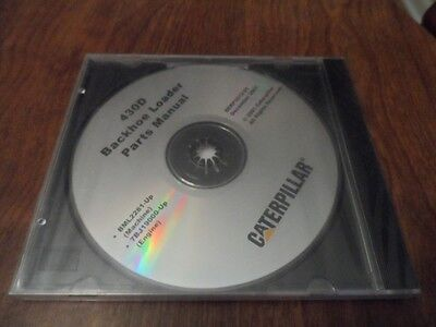 OEM Caterpillar 430D Backhoe Loader Parts Catalog Manual CD Disc # SERP 3512-01