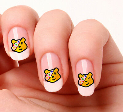 Nail Art Nail Decals Nail Transfers Pudsey Bear Bbc Children In