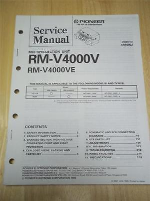 Pioneer Service Manual~RM-V4000V/VE Multiprojection Unit~Original~Repair