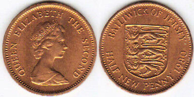 Jersey 1980 1/2 New Penny Uncirculated (KM29)