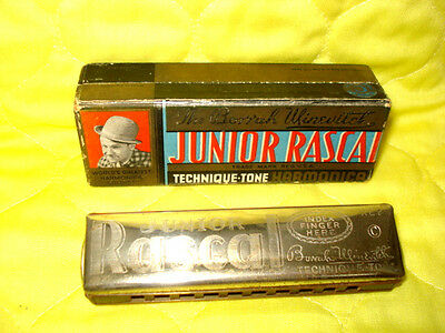 The Borrah Minevitch Junior Rascal Techinique Tone Harmonica In Oiginal Box