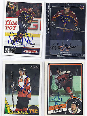 Murray Craven Signed / Autographed Hockey Card Philadelphia Flyers 1987 OPC