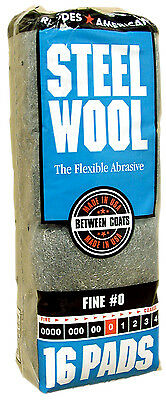 Case Rhodes American Steel Wool Grade 0 - Fine ~ (6 bags of 16 steel wool pads)