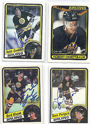Tom Fergus Signed / Autographed Hockey Card Boston Bruins 1984 OPC