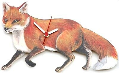 Fox Collectable Wooden Wall Clock  Hunting New Gift