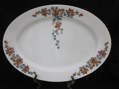 "ROYAL BAYREUTH Bavaria 16"" Large Platter ORANGE/YELLOW & BLUE FLOWERS"