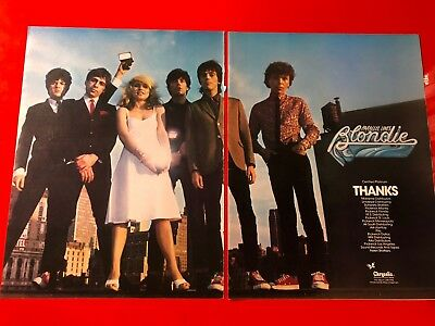 "BIG 14x22 ORIGINAL & RARE BLONDIE ""PARALLEL LINES"" LP ALBUM CD PROMO AD"