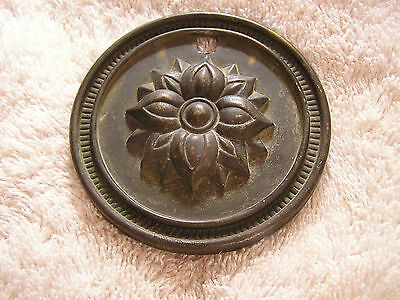 Vintage Ornate Door Ornament with Flower Plate