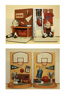 Basketball or Football Bookends by Russ Berrie