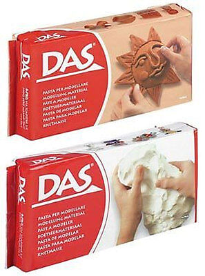 DAS Air Drying Modelling Clay 500g Block White or Terracotta New and Sealed