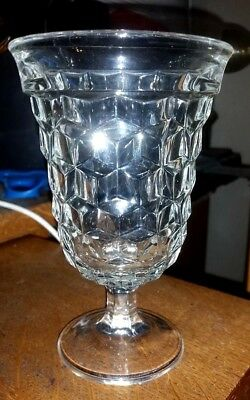 "Crystal Fostoria American Footed Low Goblet 5 1/2"" Tall"