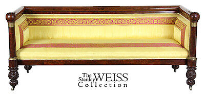 SWC-Classical Mahogany Box Sofa, New York, c.1815, Phyfe