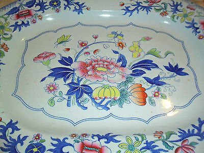 Spode Stone China Floral Platter/ Tray/plate 1805-1815 Very Rare