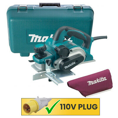 """Makita KP0810K 3""""/82mm Heavy Duty Planer 110V With Blade, Dust Bag & Carry Case"""